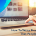 How to Write Headlines That People Click: Plus 1 Staggering Stat Every Copywriter Must Know
